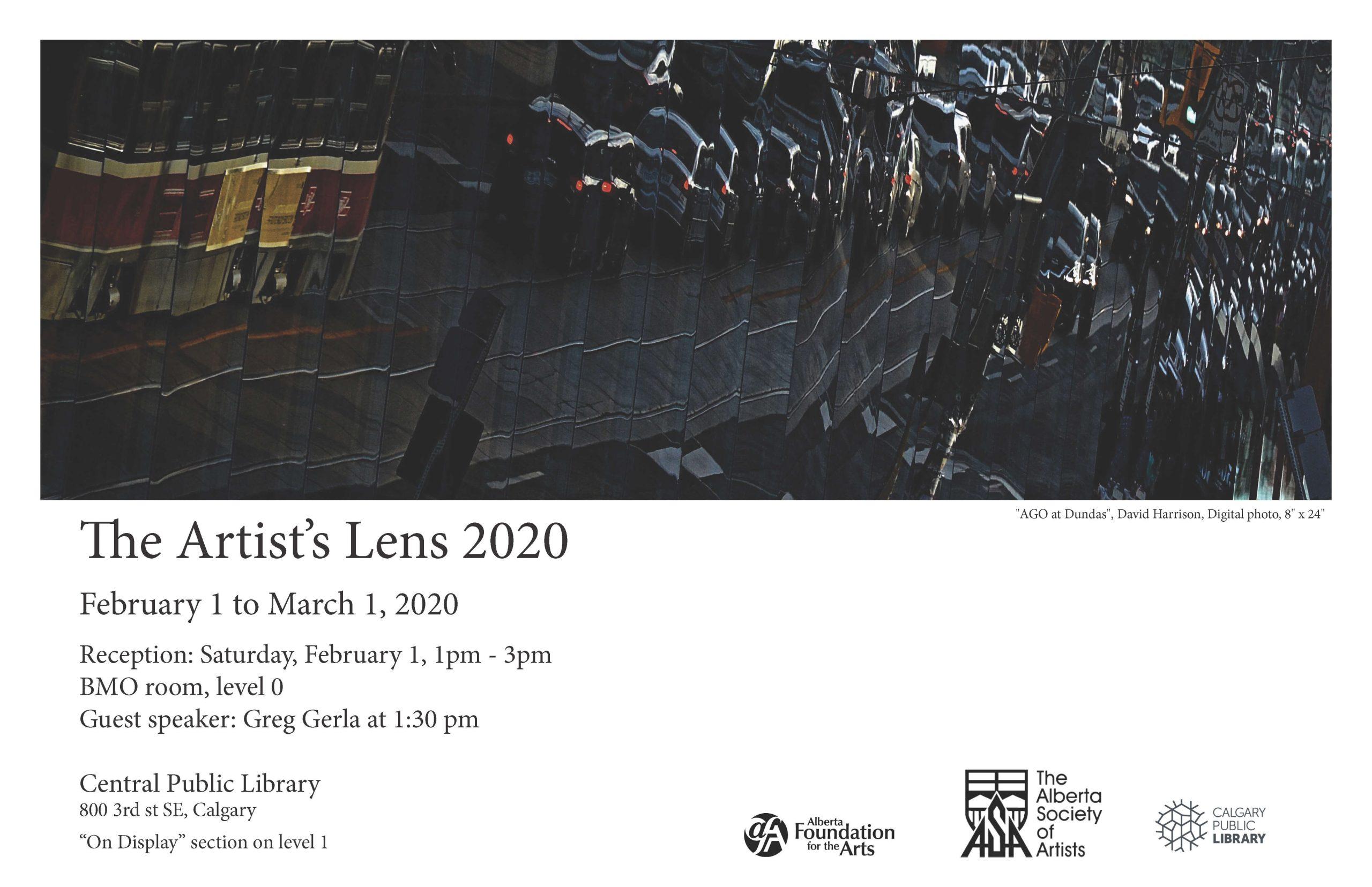 Artist's Lens 2020 poster