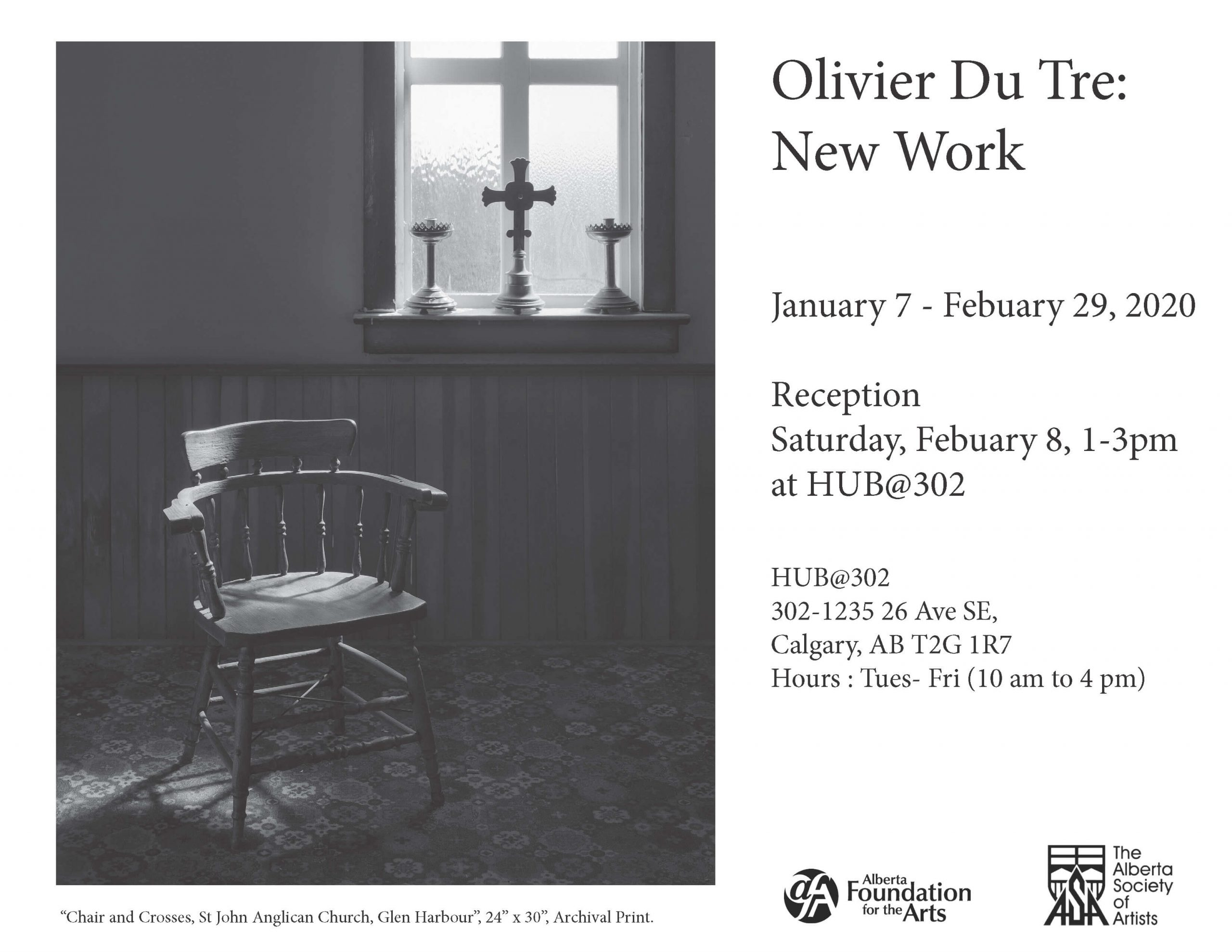 Olivier Du Tre: New Work Poster
