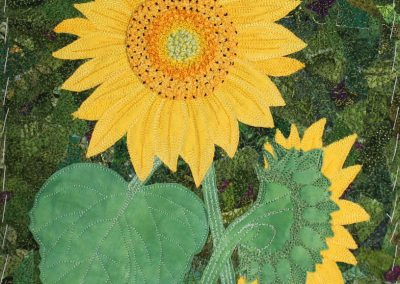 © Ilse Anysas-Salkauskas Sunflower Textile Art
