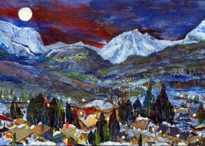 © Jean Blackall Crowsnest Mountain Mixed Media Collage