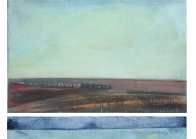 Linda Craddock Hometown Dreams, Sky Sea Train with Floating House Windows