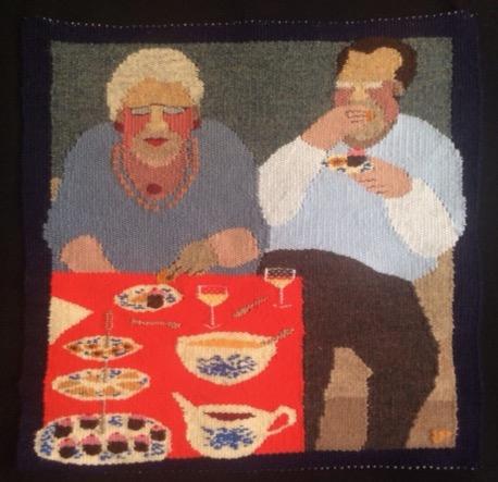 © Liv Pedersen Dessert Trap Tapestry 42 cm x 42 cm