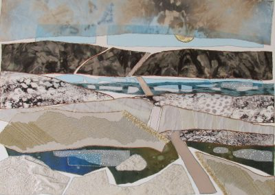 © Judy Matlock Spring break up down on the river Fabric on Paper