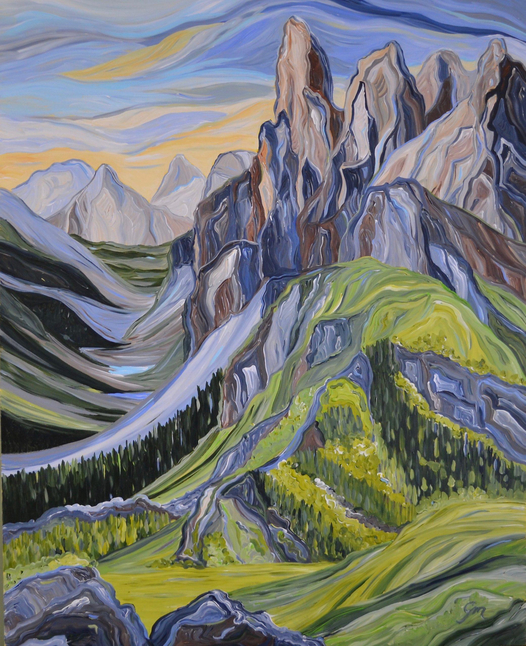 © Gisa Mayer Spring Sonata, Acrylic on Canvas