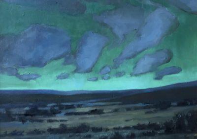 "© Bonnie Scott Northern Clouds. 16 x 25"" Oil/board"