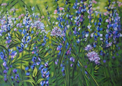 "© Deborah Lougheed Sinclair Spring Meadow Acrylic on Cradled Birch 20"" x 24"""