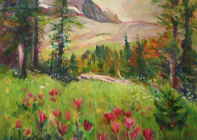 "© Liz Sullivan Lily Lake Reflections Sunshine Meadows and Paintbrush 36"" x 40"""