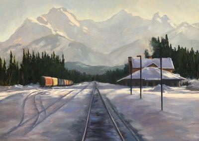 © Lisa Thomson Waiting for a Train
